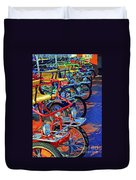 Color Of Bikes Duvet Cover