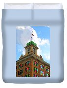 Color Of City Hall Duvet Cover
