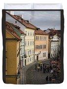 Color Of Prague Duvet Cover