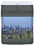 Color Pano Los Angeles California  Duvet Cover