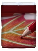 Color Pencil Drawing Duvet Cover