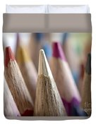 Color Pencils Close-up Duvet Cover