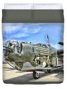 Color Side Wwii B-24j Duvet Cover