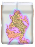 Color Sketch Koi Fish Duvet Cover
