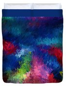 Color Splash Abstract 080210 Duvet Cover