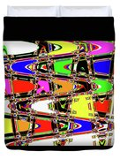 Color Wave Abstract Duvet Cover