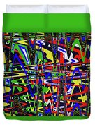 Color Works Abstract Duvet Cover