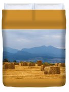Colorado Agriculture Farming Panorama View Pt 2 Duvet Cover