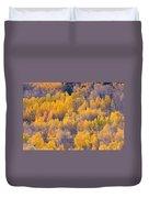 Colorado Autumn Trees Duvet Cover