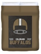 Colorado Buffalos Vintage Football Art Duvet Cover