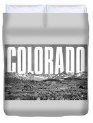 Colorado Cityscape Duvet Cover