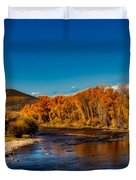 Colorado Cottonwoods In Autumn Duvet Cover
