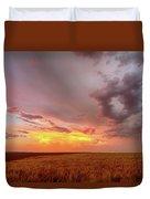 Colorado Eastern Plains Sunset Sky Duvet Cover