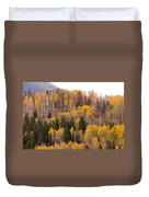 Colorado Fall Foliage Duvet Cover