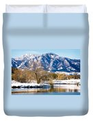Colorado Flatirons 2 Duvet Cover