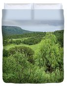 Colorado Green Duvet Cover