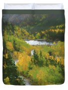 Colorado Lake And Colors Duvet Cover