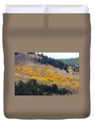 Colorado Mountain Aspen Autumn View Duvet Cover