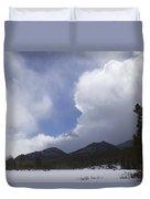 Colorado Mountain Clouds Duvet Cover