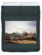 Colorado Mountain Ranch Duvet Cover