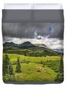 Colorado Mountains After Summer Rain Duvet Cover