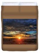 Colorado Plains Sunset Duvet Cover