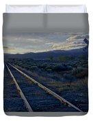 Colorado Railroad Crossing Duvet Cover
