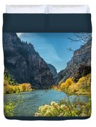 Colorado River And Glenwood Canyon Duvet Cover by Jemmy Archer