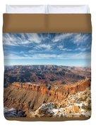 Colorado River And The Grand Canyon Duvet Cover
