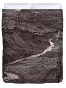 Colorado River At Desert View Grand Canyon Duvet Cover