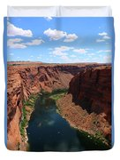 Colorado River At Glen Canyon Dam Duvet Cover