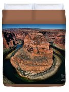 Colorado River Circles Horseshoe Bend Page Arizona Usa Duvet Cover