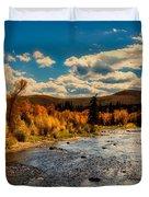 Colorado River In Autumn Duvet Cover