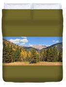 Colorado Rockies National Park Fall Foliage Panorama Duvet Cover