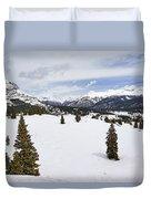 Colorado Snow Scene Duvet Cover