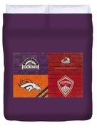 Colorado Sports Teams On Brick Duvet Cover