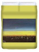 Colorado Spring Night Skyline Duvet Cover