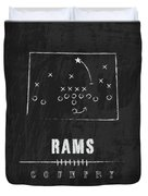 Colorado State Rams / Ncaa College Football Art / Fort Collins Duvet Cover by Damon Gray