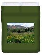 Colorado Wildflower Spectrum Duvet Cover