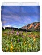 Colorado Wildflowers Duvet Cover