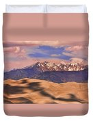 Colorado's Great Sand Dunes Shadow Of The Clouds Duvet Cover