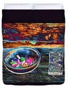 Colored Chalk Duvet Cover