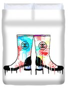 Colored Chanel Boots Duvet Cover