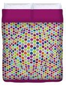 Colored Geometries Duvet Cover