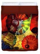Colored Glass Art Duvet Cover