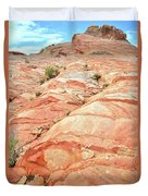 Colored Hill In Valley Of Fire Duvet Cover