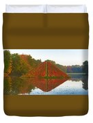 Colored Lake Pyramid Duvet Cover