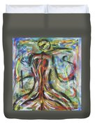 Colored Male Back Duvet Cover