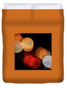 Colored Moons 3 Duvet Cover
