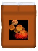 Colored Moons 4 Duvet Cover